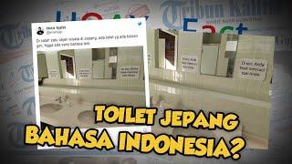 Hoax or Fact: Toilet di Jepang Ditempeli 'Larangan Cuci Kaki di Wastafel' Pakai Bahasa Indonesia?