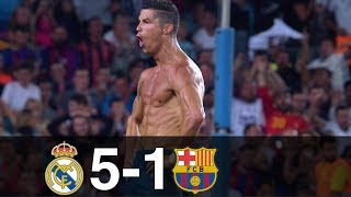 Real Madrid vs Barcelona 5-1 Goals & Highlights w/ English Commentary Spanish Supercup 2017 HD 1080p