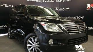 Used Black 2011 Lexus LX 570 4WD Ultra Premium In Depth Review | Red Deer Alberta