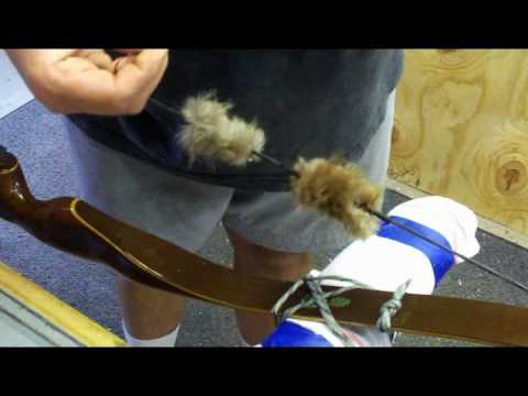 How to install fur string silencers (traditional archery