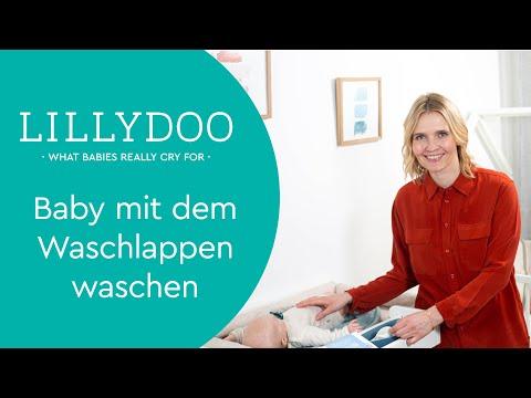 Baby waschen mit dem Waschlappen   Tipps & Tricks von LILLYDOO Hebamme Sissi