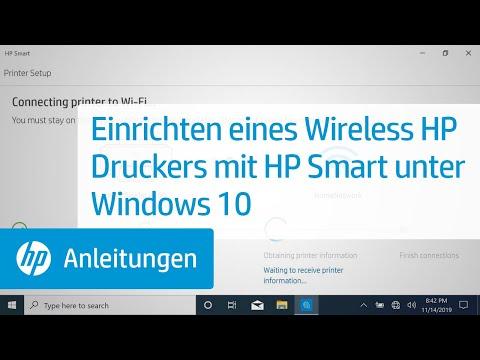 Einrichten eines Wireless HP Druckers mit HP Smart unter Windows 10