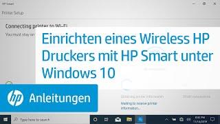 Einrichten eines Wireless HP Druckers mit HP Smart unter Windows 10 | HP Drucker | @HPSupport