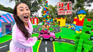 24 HOUR CHALLENGE IN A LEGO CITY!!