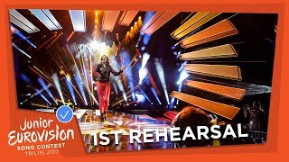JESC 2017 | Day 2: first rehearsals - part 1
