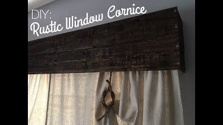 RUSTIC WOOD CORNICE DIY: Made From Tongue & Groove Wood