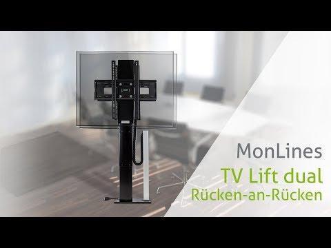 MonLines TV Lift dual Rücken-an-Rücken