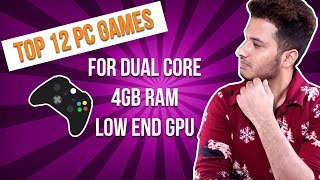 Top 12 PC Games For Low Budget Gaming PC Builds [HINDI] Stunning Graphics & Gameplay