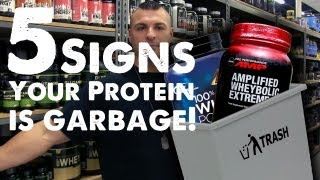 5 signs your protein is garbage