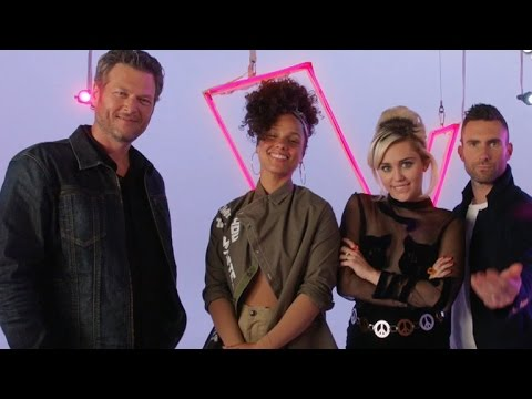 Blake Shelton and Adam Levine Meet Their Match With New 'Voice' Coaches Miley Cyrus and Alicia Ke…