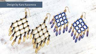 Bonita Chandelier Earrings Tutorial | DIY & Crafts | Beaded Earrings With Fringe | Bugles