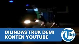 Detik-detik Remaja Tanggung Tewas Dilindas Truk, Adang Kendaraan demi Konten Youtube