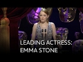 Emma Stone wins Best Leading Actress BAFTA for La La Land - The British Academy Film Awards 2017