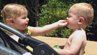 Cute BABIES Sharing Food Compilation - TRY NOT TO AWW and LAUGH