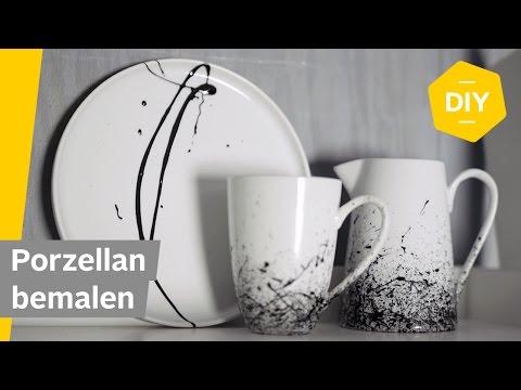 DIY: Porzellan-Geschirr bemalen – einfache Anleitung mit Spritz-Technik | Roombeez – powered by OTTO