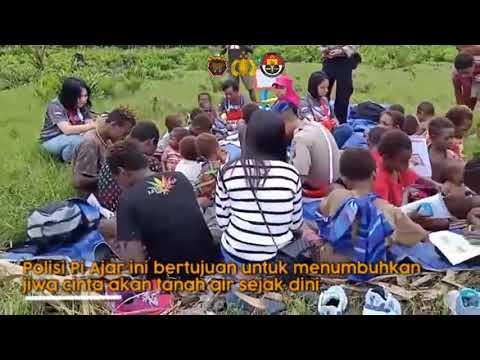 Polisi Pi Ajar di Kampung Cendrawasih Mimika Timur