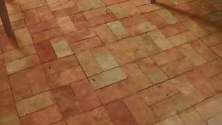 Brick Floor Sealed To A Mid Shine Finish