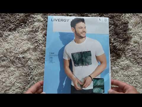 LIVERGY® Herren T-Shirt Größe:L (52/54) Farbe:weiß