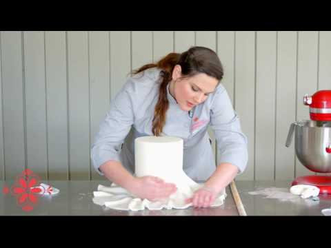 Covering A Double-Barrel Cake With Fondant