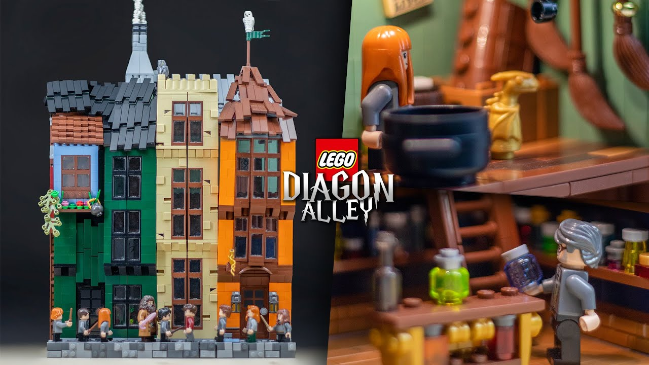 LEGO DIAGON ALLEY From HARRY POTTER! // Custom LEGO MOC
