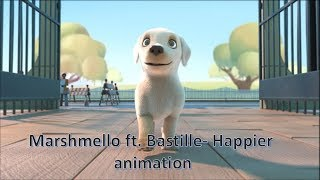 Marshmello Ft. Bastille   Happier Animation Music Video (Unofficial Music Video)