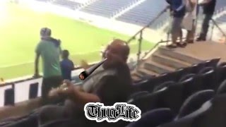 THUG Farts In The Middle Of A Soccer Game, Scares Away Fans (Iran Thug Life)