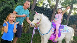 Following Mystery Clues to Find Real Unicorn! New Pet???