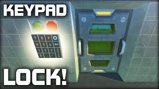 Building a Door Lock With a Number Keypad! (Scrap Mechanic Gameplay)