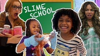 Slime School Teacher vs Silly Students!  - New Toy School