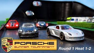 Porsche Racing Tournament R1H1-2 Hot Wheels Diecast Car Race