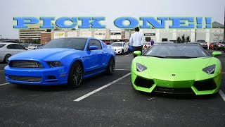 Mustang vs. Lamborghini - Hard Choice (Vlog 001 ~ Part 1/2)