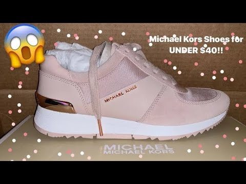 MICHAEL KORS Allie Leather and Canvas Sneakers Unboxing