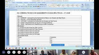 22/04/2021 – 1ª Reunião Extraordinária do CBH-BS (2ª parte)