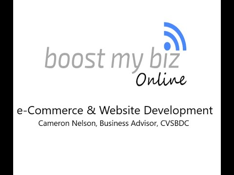 e-Commerce and Website Development: Boost My Biz Online