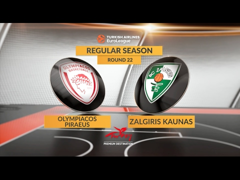 EuroLeague Highlights RS Round 22: Olympiacos Piraeus 73-64 Zalgiris Kaunas