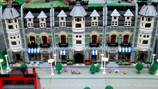 preview picture of video 'Lego City Diorama. Catbrick 2013'