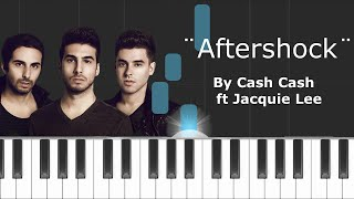 """Cash Cash - """"Aftershock"""" ft Jacquie Lee Piano Tutorial - Chords - How To Play - Cover"""