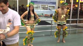 Greeting in Manaus airport