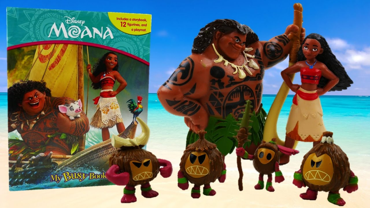 Disney Moana Movie My Busy Book Read and Review | Evies Toy House
