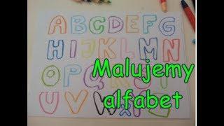 Jak namalować angielski alfabet? - How to draw the English alphabet? + The Alphabet Song