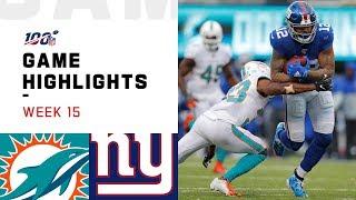 Dolphins vs. Giants Week 15 Highlights | NFL 2019