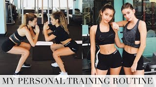 My WORKOUT ROUTINE | What I Do With my Trainer!
