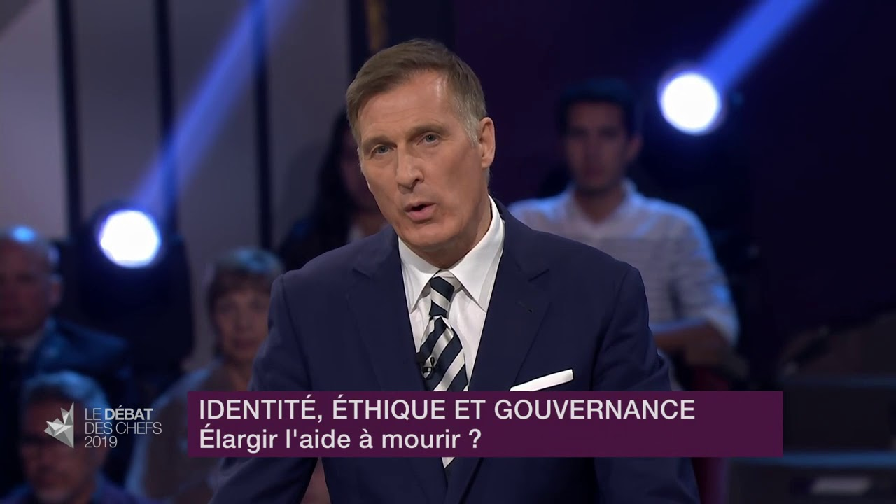 Maxime Bernier answers a question about medically-assisted dying