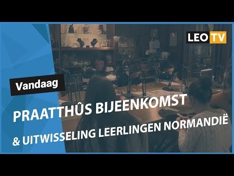 Ljouwert: Fraachpetear fan omrop LEO mei listlûker Jan Willem Tuininga
