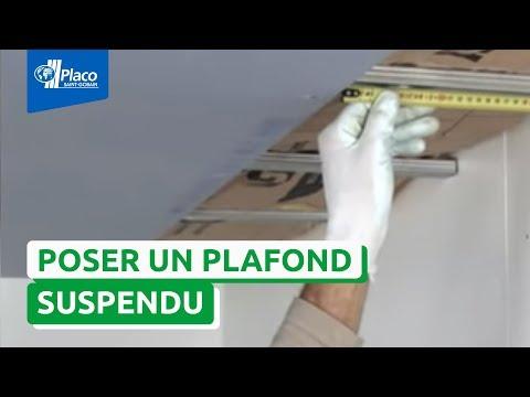 Comment réaliser un plafond suspendu avec la plaque Placo® Phonique ?