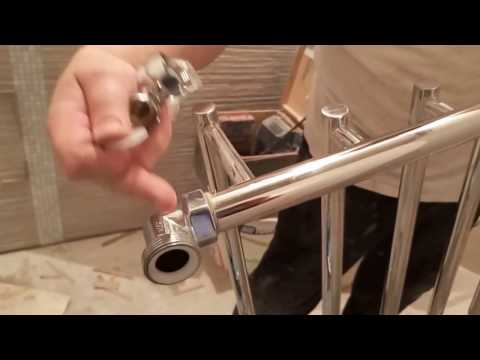 Правильное подключение полотенцесушителя, не закапает проверено