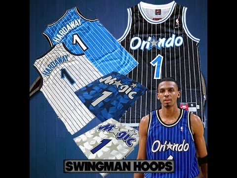 Unboxing: Anfernee ''Penny'' Hardaway Black Pinstripe Orlando Magic Throwback Jersey + More (1080p)