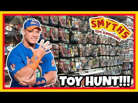 TOY HUNT!!!   No-one Can See JOHN CENA   WWE Mattel Wrestling Figure Hunting Fun