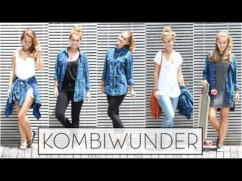 KOMBIWUNDER: 1 Männerhemd - 5 OUTFITS || Schule, Uni, Schick... || SNUKIEFUL