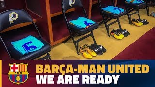 Ready to go at the FedExField for Barça v Man United